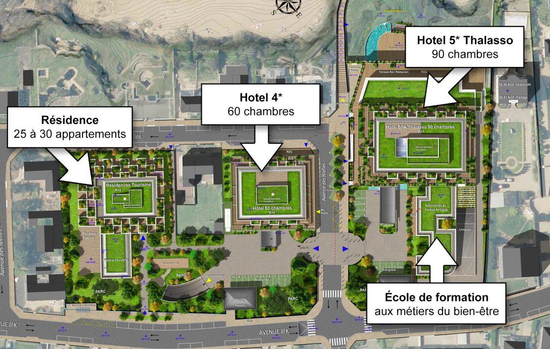 Plan Masse du projet des Nielles