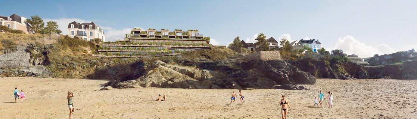 Hôtel 5* vue de la plage