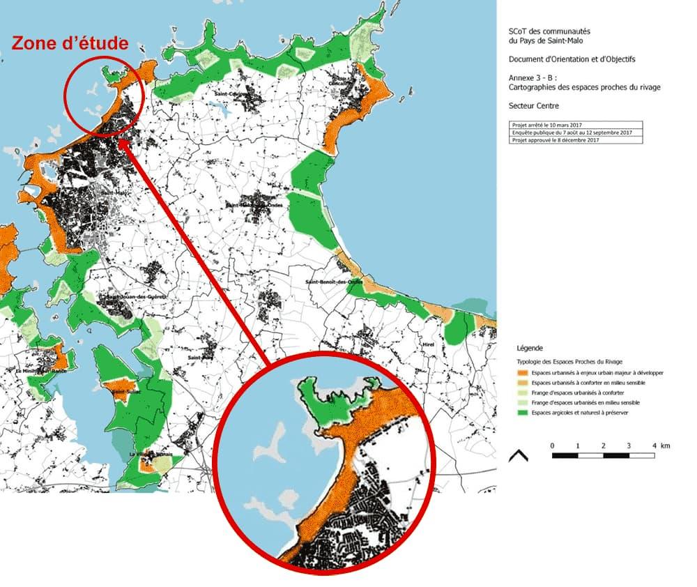 Cartographie des espaces proches du rivage
